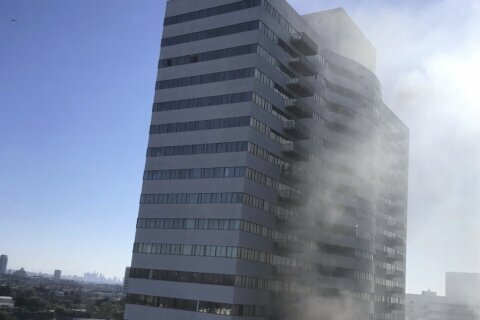 1 critically injured in Los Angeles high-rise apartment fire