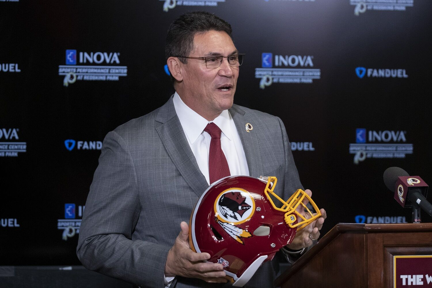 """<p><strong>Can Ron Rivera fix Ashburn?</strong></p> <p>There's <a href=""""https://wtop.com/washington-redskins/2020/01/ill-bet-on-me-new-head-coach-ron-rivera-takes-over-in-washington/"""" target=""""_blank"""" rel=""""noopener"""">a new head coach</a> (and <a href=""""https://wtop.com/washington-redskins/2020/01/redskins-hire-jack-del-rio-as-defensive-coordinator/"""" target=""""_blank"""" rel=""""noopener"""">defensive coo</a>r<a href=""""https://wtop.com/washington-redskins/2020/01/redskins-hire-jack-del-rio-as-defensive-coordinator/"""" target=""""_blank"""" rel=""""noopener"""">dinator</a>) in town, but the Burgundy and Gold enter 2020 still without either a GM or team president, following Bruce Allen's ouster. How will they address that void? If the head coach has any say in the hiring process, how will that dynamic play out? Will Daniel Snyder still meddle with top picks, specifically the No. 2 selection the 'Skins now own heading into April's draft? Can Ohio State's Chase Young help kick start the turnaround from the defensive side of the ball? Can Rivera turn Dwayne Haskins into a top flight NFL starter? Has Ashburn fully shifted feeding from Tuscaloosa to Columbus? Rivera and Del Rio are the first two answers, but many more questions remain.</p>"""