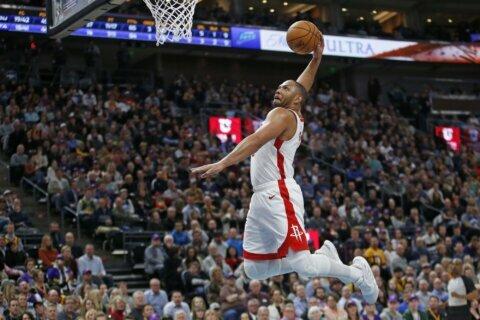 Gordon gets 50, Rockets top Jazz 126-117 minus Harden, Russ