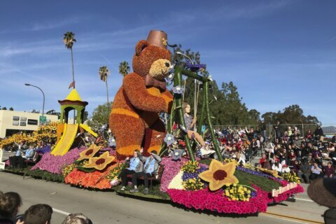 Floats, marching bands hit the streets for 131st Rose Parade