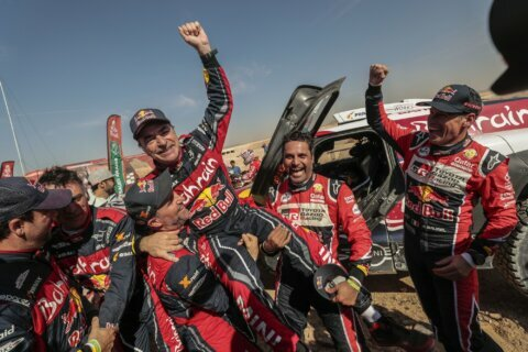 Sainz wins a third Dakar Rally title, rider Brabec his first