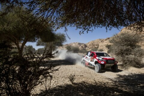 Sainz's Dakar Rally lead down to 24 seconds over Al-Attiyah