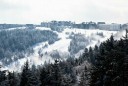The ski resort at Snowshoe, WV after a fresh snow.
