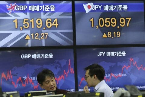 Asian shares higher despite growing impact of China virus