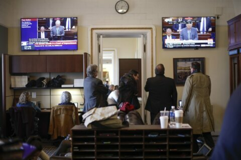 Reporters getting 1st taste of impeachment restrictions