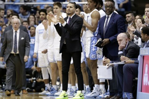 UNC's Anthony eager for eventual return from knee surgery