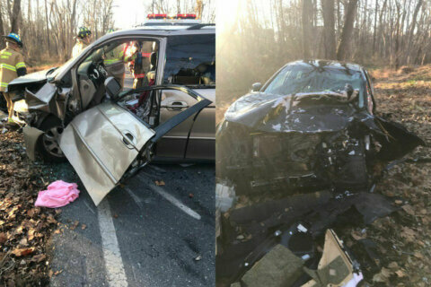 2 seriously injured after head-on collision in Montgomery County