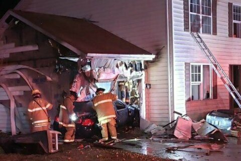 Car crashes into Prince George's Co. home after driver flees traffic stop