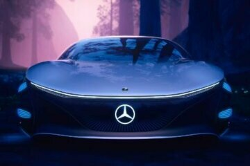 This Mercedes-Benz concept car has no steering wheel