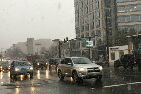 Risk of refreeze overnight, as DC area finishes 1st snow of the year
