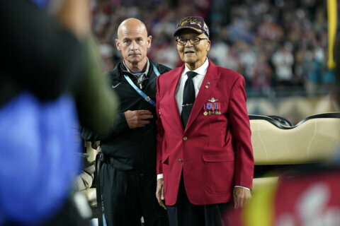 Super Bowl coin flip honor for 100-year-old Tuskegee Airman from Bethesda