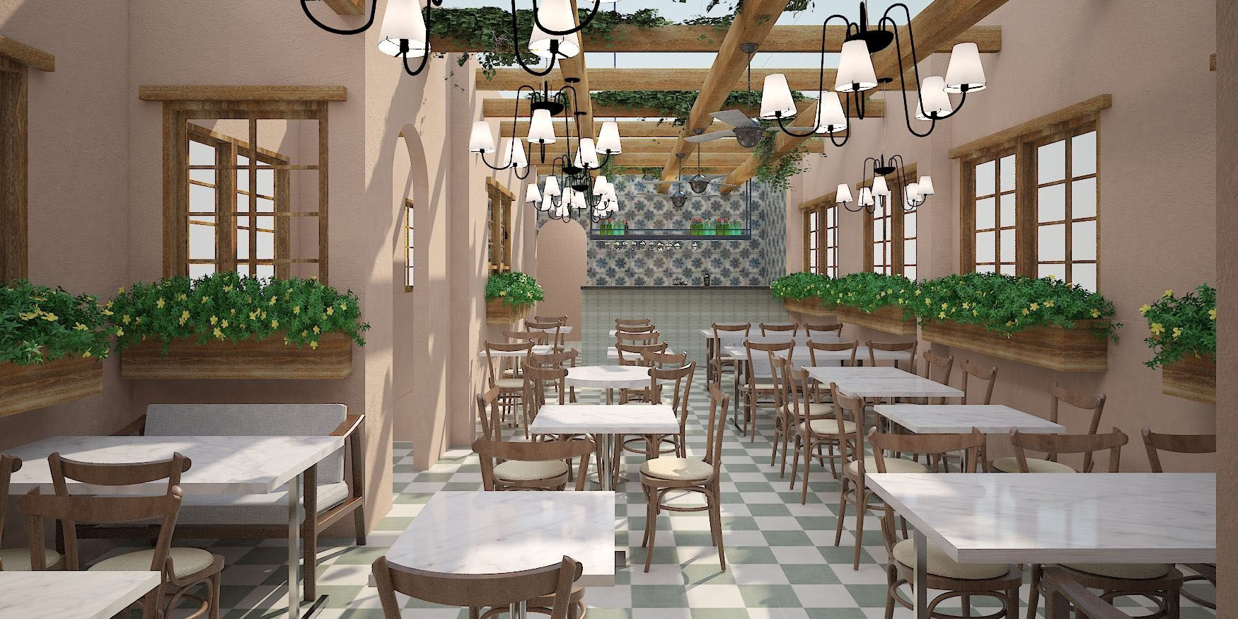 Renderings of the $3 million renovation of Capitol Hill restaurant Ambar. The renovation will double the restaurant's size and includes a new third-floor rooftop that will have a retractable roof.