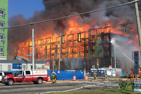 Massive fire destroys Fairfax Co. building under construction, smoke seen for miles