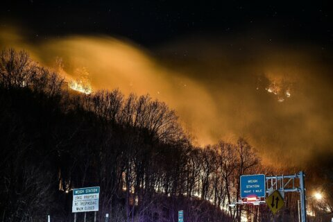 Forest fire near I-80, Appalachian Trail mostly contained
