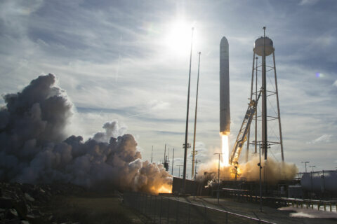 Liftoff: Candy, cheese soar to space station from Virginia seashore