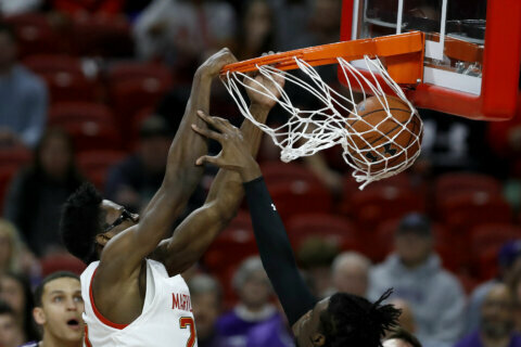 No. 7 Maryland beats Northwestern 76-67 for 9th straight win