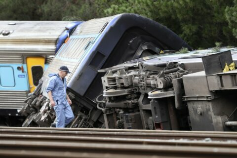 Passenger train partly derails in Australia, killing 2