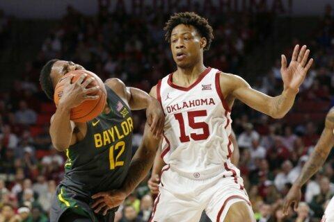 Butler scores 22, helps No. 1 Baylor beat Oklahoma 65-54