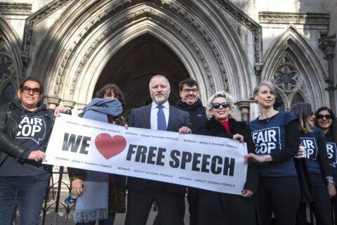 UK judge: Police probe of 'transphobic' tweets was unlawful