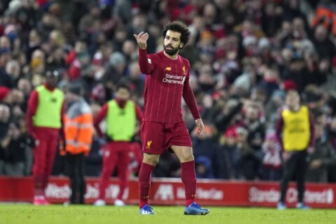 Liverpool survives scare to rally to 3-2 win over West Ham
