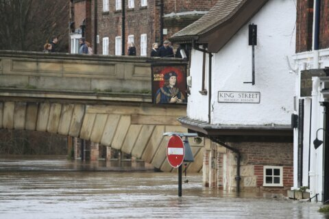 UK grapples with severe floods, storm death toll rises to 3