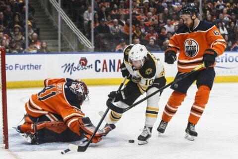 Pastrnak scores winner in Bruins' 2-1 OT win over Oilers