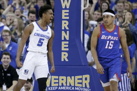 Alexander's 24 lead No. 23 Creighton in 93-64 rout of DePaul