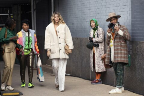 AP PHOTOS: A look at New York Fashion Week on the street
