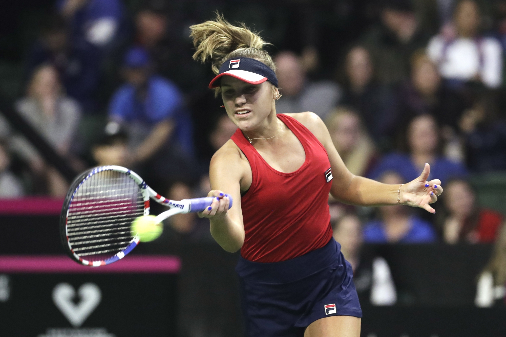Williams Remains Perfect In Fed Cup Us Leads Latvia 2 0 Wtop