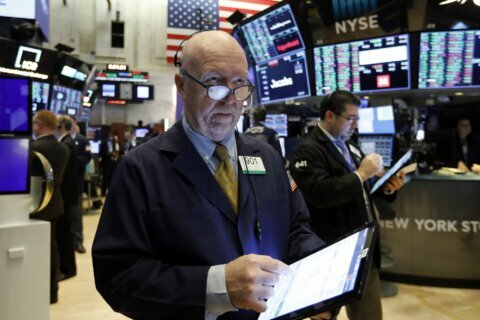 Stocks fall, bond prices rise as investors seek safe ground