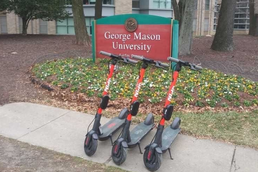 Westlake Legal Group GMUSCOOTERS2-e1580828013520 E-scooters come to GMU campus (but they're geofenced) virginia news Transportation News Tech News spin scooters Local News Latest News jeff clabaugh gmu george mason Fairfax County, VA News Consumer News Business & Finance