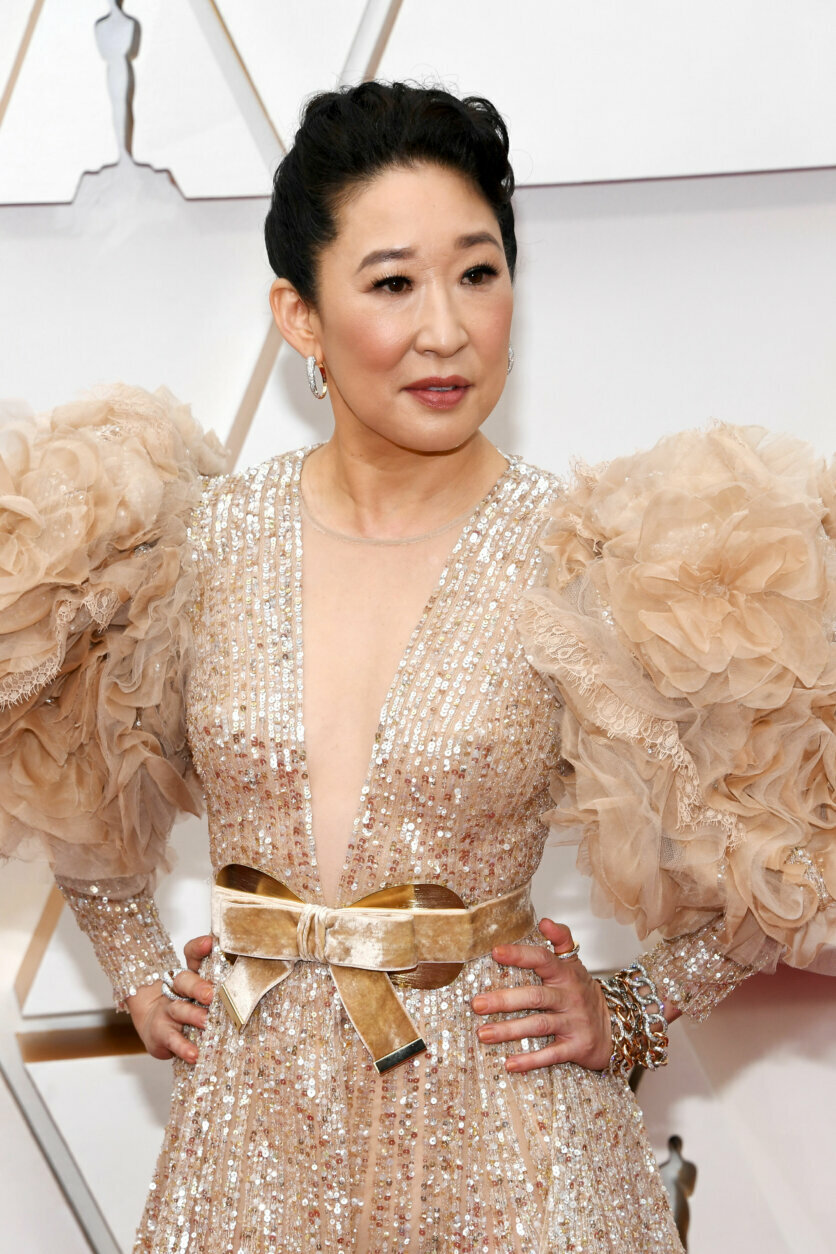 HOLLYWOOD, CALIFORNIA - FEBRUARY 09: Sandra Oh attends the 92nd Annual Academy Awards at Hollywood and Highland on February 09, 2020 in Hollywood, California. (Photo by Kevin Mazur/Getty Images)