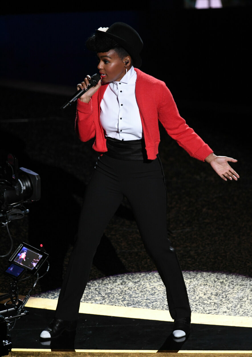 HOLLYWOOD, CALIFORNIA - FEBRUARY 09: Janelle Monáe performs onstage during the 92nd Annual Academy Awards at Dolby Theatre on February 09, 2020 in Hollywood, California. (Photo by Kevin Winter/Getty Images)