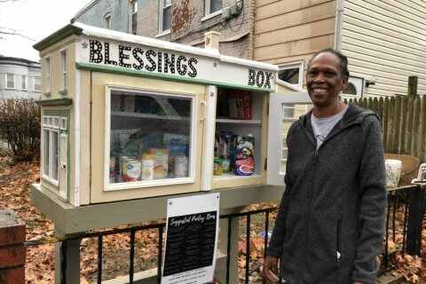 Food donations box brings a Southeast DC neighborhood together