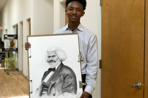 Students perform winning speeches to honor Frederick Douglass' birthday