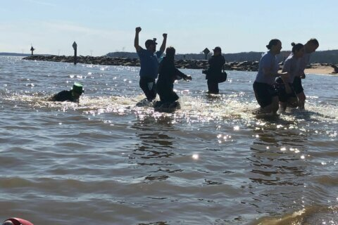 Prince William Co. polar plungers take chilly dip in the Potomac for a good cause
