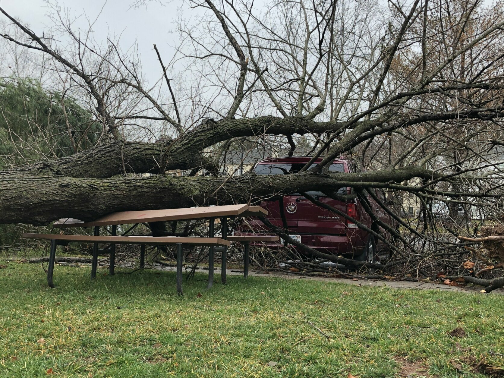<p>A look at damage at The Point at Loudoun in Leeburg, Virginia, on Friday, Feb. 7, 2020.</p>
