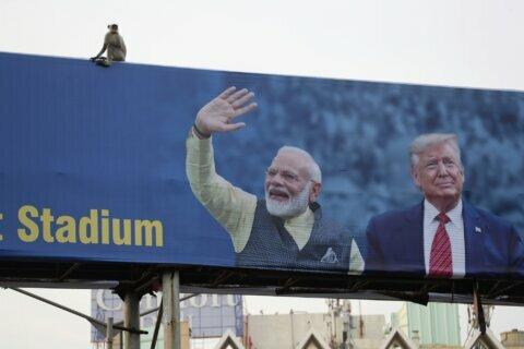 At Trump's India rally, Modi bets on bolstering his image