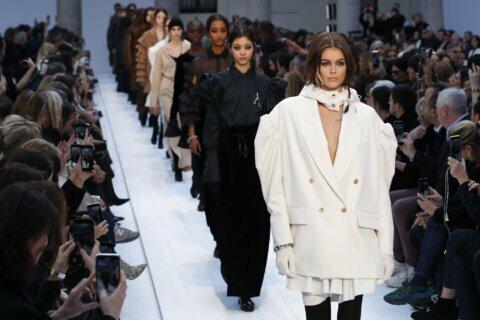 Irony prevails at Benetton, transparent femininity at Prada