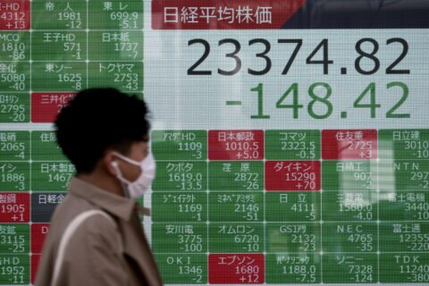 Asian shares mostly rise despite continuing virus fears