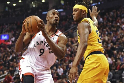 Raptors roll to their biggest win ever, beat Pacers 127-81