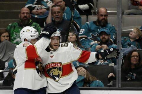 Hoffman, Ekblad lead Panthers past Sharks 5-3