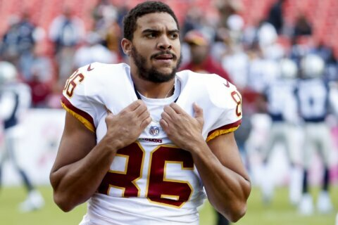 Redskins release injury-prone tight end Jordan Reed