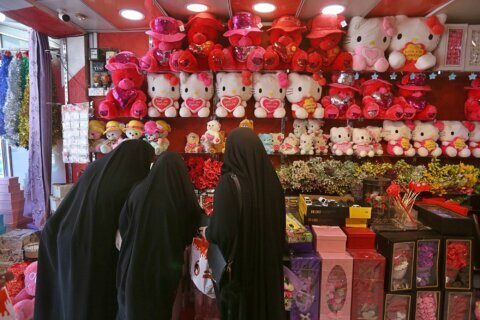 Valentine's Day brings love and some worry in Iraq holy city