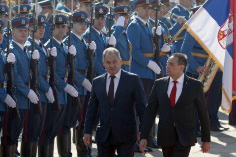Russian defense minister visits Serbia amid Balkan tensions