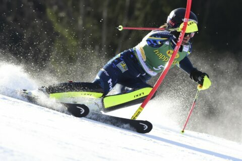 Vlhova wins slalom to overtake absent Shiffrin in standings