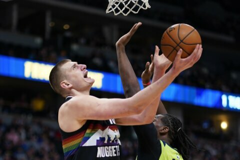 Millsap has 25 points as Nuggets beat Timberwolves, 128-116