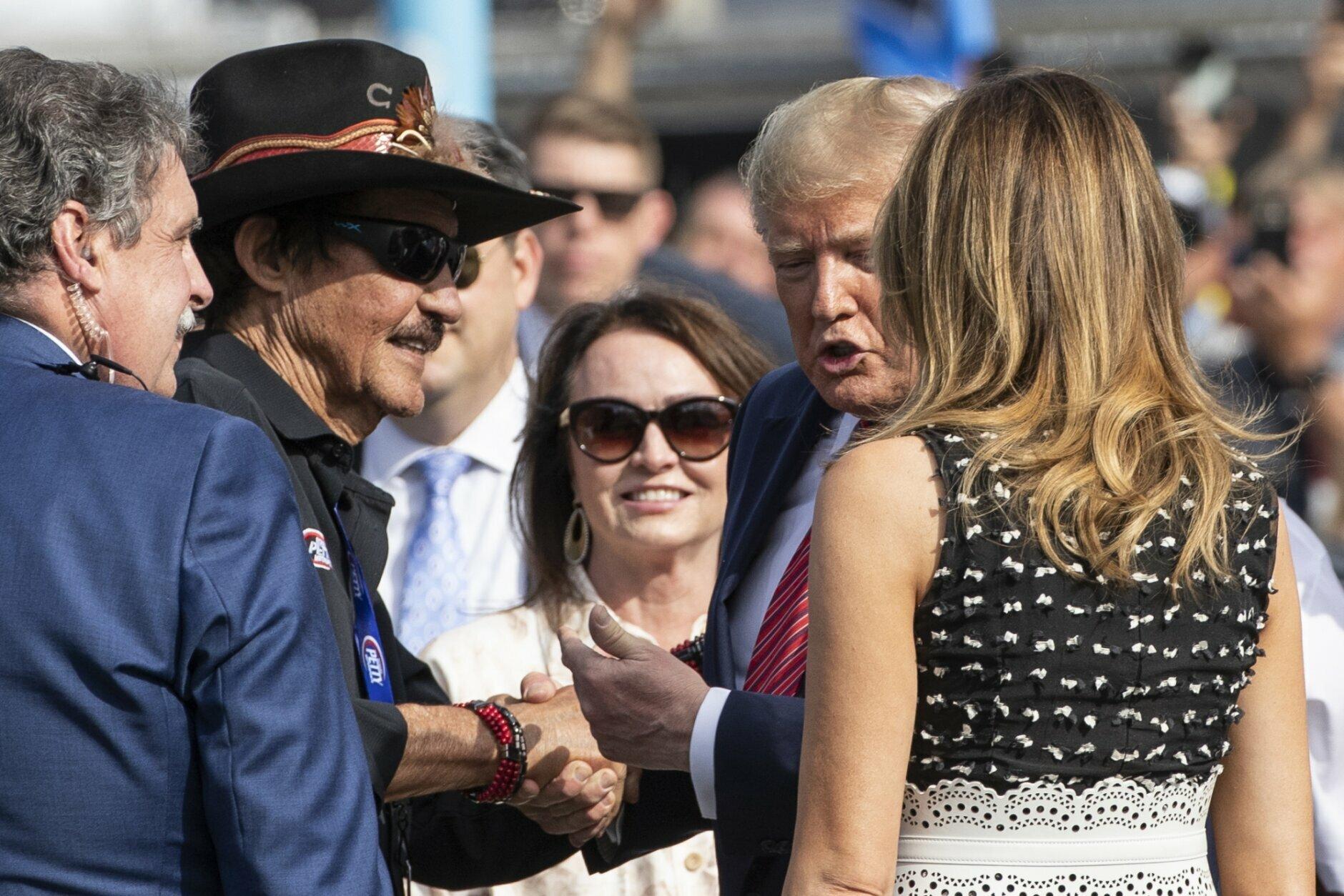 Donald Trump, Melania Trump, Richard Petty