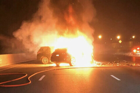 3 injured in fiery head-on collision along Outer Loop caused by wrong-way driver