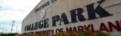 University of Maryland College Park sign